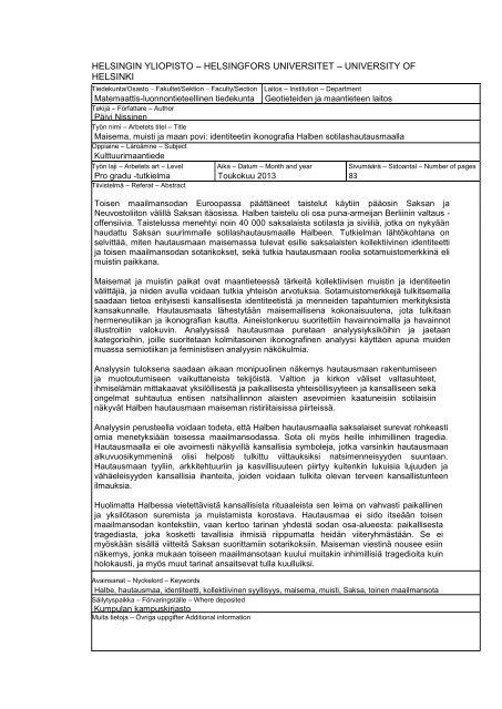 Nissinen_Maisema muisti ja maan povi.pdf - Helda