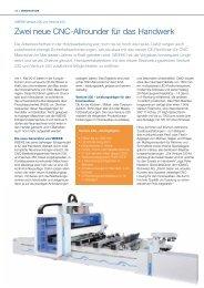 Zwei neue CNC-Allrounder für das Handwerk - HOMAG Group