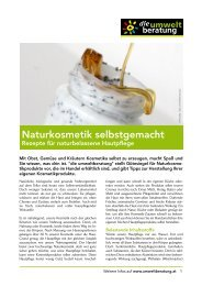 Naturkosmetik selbstgemacht - umweltberatung