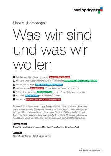 Axel Springer Homepage - derStandard.at