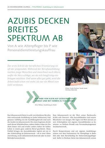 Azubis Decken breites sPektrum Ab - Johanneswerk