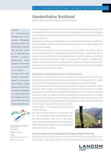 Anwenderbericht LANCOM Vordereifel.pdf - LANCOM Systems