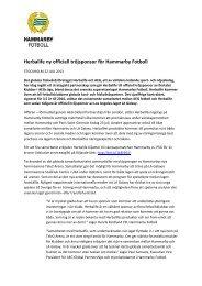 Herbalife ny officiell tröjsponsor för Hammarby Fotboll - Cision
