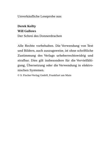 Unverkäufliche Leseprobe aus: Derek Keilty Will Gallows Der Schrei ...