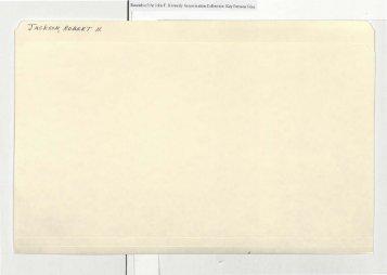 I Records of the John F Kennedy Assassmallon Colleclion Key ...