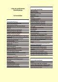 Ausbau nach Hochschularten, Fächergruppen und Liste der - Page 5