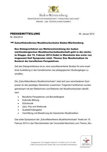 pressemitteilung - Ministerium für Wissenschaft, Forschung und ...