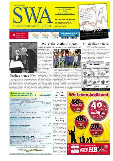Ausgabe D, Wittgenstein (8.70 MB) - Siegerländer Wochen-Anzeiger