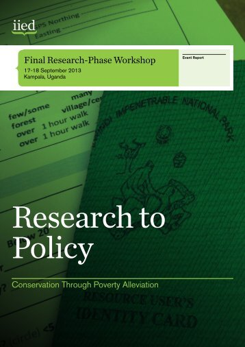 Research to Policy - iied.org - International Institute for Environment ...