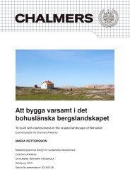 Att bygga varsamt i det bohuslänska bergslandskapet - Chalmers ...
