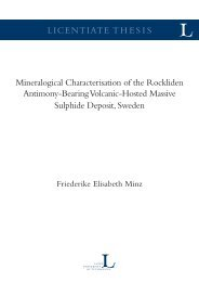 LICENTIATE THESIS Mineralogical Characterisation of the ...