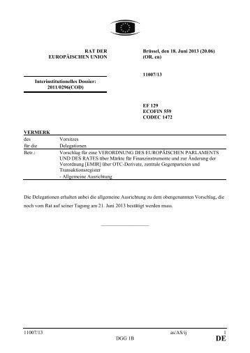 DE - Öffentliches Register der Ratsdokumente