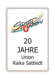 Festschrift 20 Jahre Union - SPORTUNION Österreich