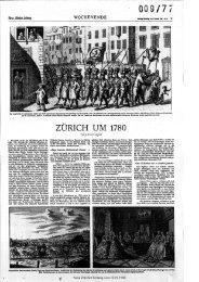 ZÜRICH UM 1780 - Neue Zürcher Zeitung