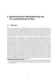 3. Untersuchung der Wechselwirkung von CO2-Laserstrahlung mit ...