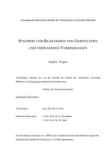 2. Synthese und Reaktionen von Germylenen
