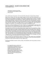 PETRA ALBRECHT – BILDER IN VERLORENER FORM - Via Regia