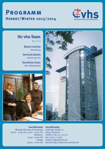 Aktuelle Kurs-PDF - vhs der Stadt Saarlouis