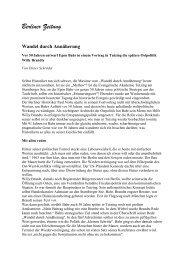 Informationen - Evangelische Akademie Tutzing