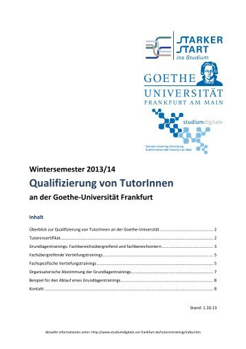 Tutorentraining_WS13.. - Goethe-Universität