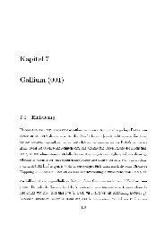 Kapitel Gallium (00l) ()1 Einleitung Halbmetalle wie Beryllium oder а ...