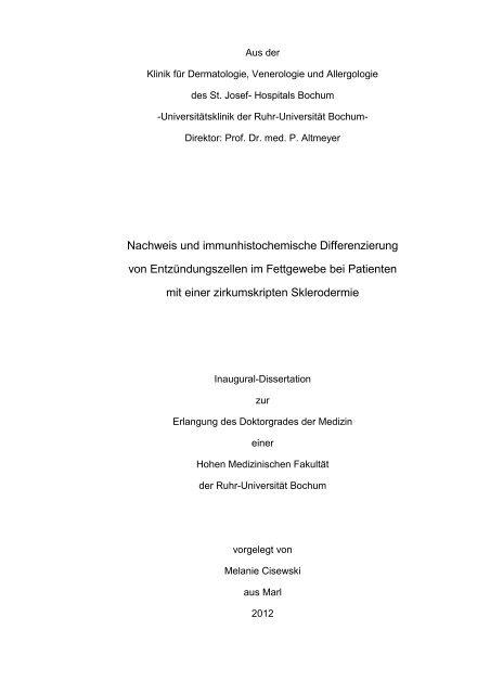 Nachweis und immunhistochemische Differenzierung von ...