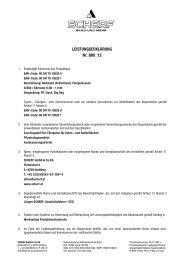 LEISTUNGSERKLÄRUNG Nr. B00_12 - Scherf