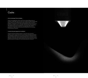 Licht als vollwertiger Teil der Architektur Cadre ist eine ... - Kreon