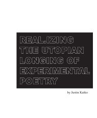 real.izing the utopian longing of experimental poetry - Critical ...