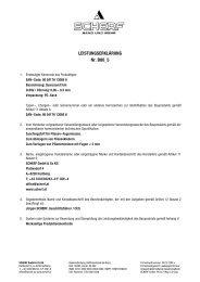 LEISTUNGSERKLÄRUNG Nr. B00_5 - Scherf