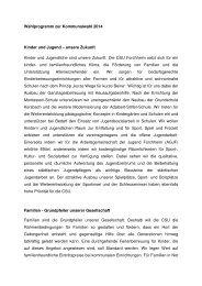 Unser Wahlprogramm für die Kommunalwahl am ... - CSU Forchheim