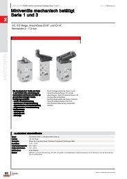 ANSTEUERN 2 Miniventile mechanisch betätigt Serie 1 und 3