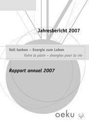 Download Jahresbericht 2007 - oeku Kirche und Umwelt
