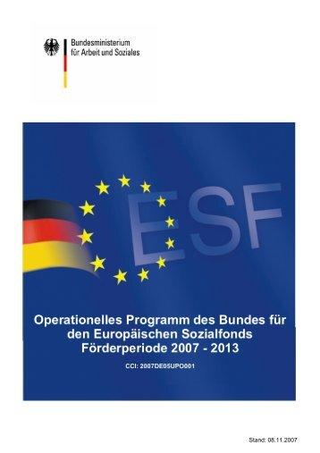 Operationelles Programm des Bundes für den ESF