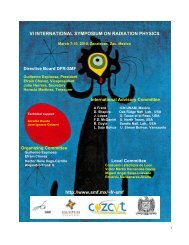 vi international symposium on radiation physics - Universidad ...