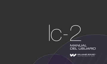 MANUAL DEL USUARIO - Williams Sound