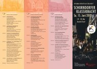 SCHORNDORFER KLASSIKNACHT - Kulturforum Schorndorf