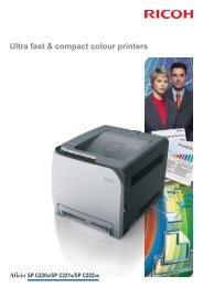 Brochure for Aficio SPC220N - Colour Laser Printers