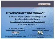STRATÉGIAI KÖRNYEZETI VIZSGÁLAT - Balaton Fejlesztési Tanács