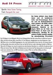 Audi S4 Presse - MTM