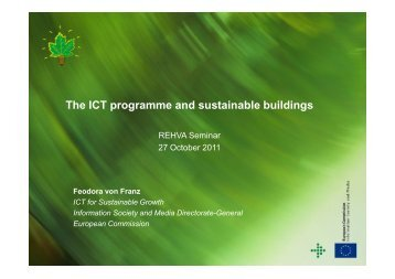 The ICT programme and sustainable buildings - rehva
