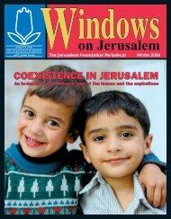 Windows Winter 2006 - Jerusalem Foundation