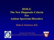 DSM-5: The New Diagnostic Criteria For Autism Spectrum Disorders