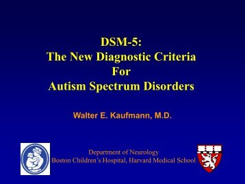 DSM-5: The New Diagnostic Criteria For Autism Spectrum Disorders