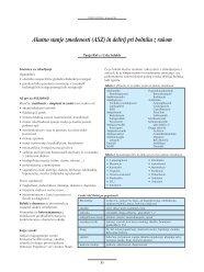 Akutno stanje zmedenosti (ASZ) in delirij pri bolniku z rakom