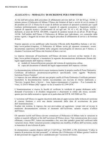361 edicart ufficio via c for Politecnico milano iscrizione