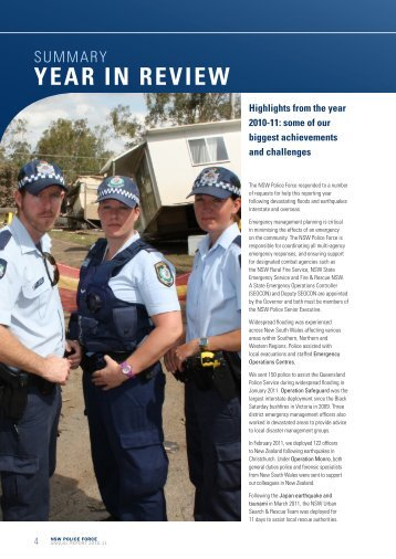summary year in review - NSW Police Force
