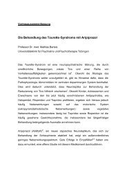 von Prof. Dr. med. Mathias Bartels - Tourette-Gesellschaft Deutschland
