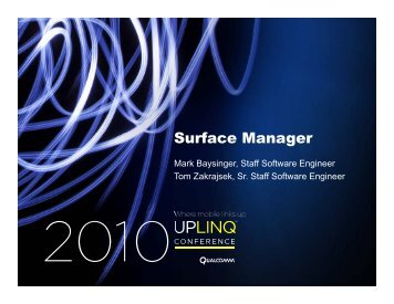 Surfaces are... - Uplinq