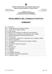 Regolamento del Consiglio di istituto - IIS Severi-Correnti